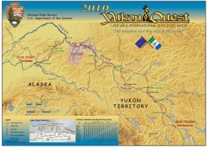 Yukon Quest map courtesy of the National Park Service