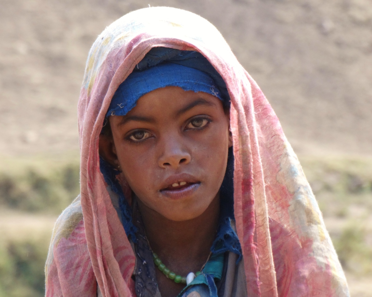 Simien Mountain Girl Amhara region, Ethiopia