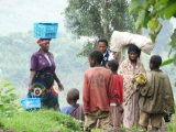 A walking safari from Kisoro to Nkuringo camp,Uganda