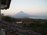 View of the active volcano (Concepcion) at Ometepe, Nicaragua (video)